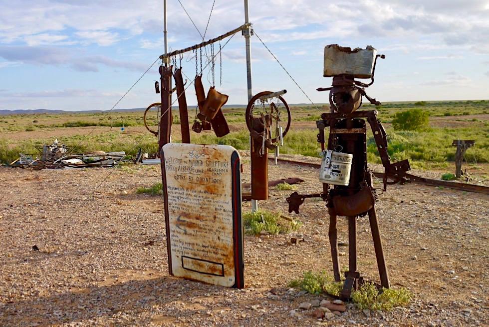 Mutonia Sculpture Park - Faszinierende Skulpturen auf dem Oodnadatta Track - Outback South Australia