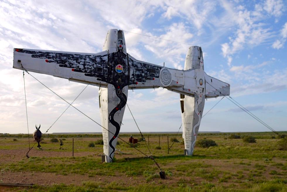 Mutonia Sculpture Park - Plane Henge Rückseite - Oodnadatta Track - Outback South Australia