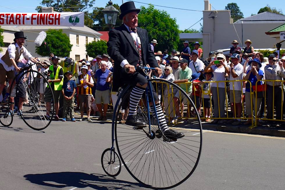 Hochrad Rennen - National Penny Farthing Championships - Evendale - Tasmania