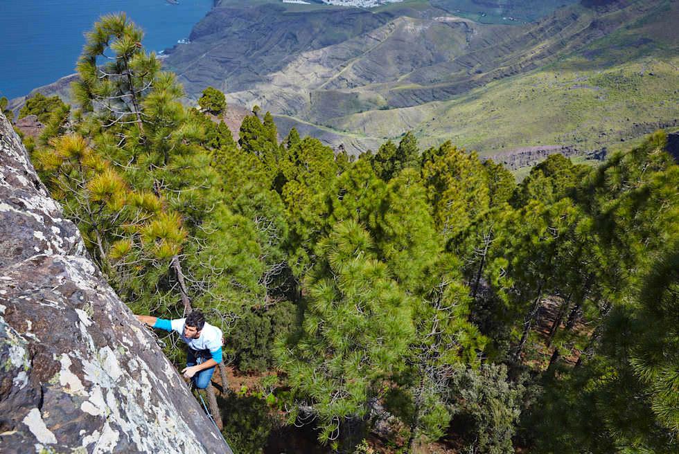 Naturpark Tamadaba - Climbing mit 40 Kletterrouten - Artenara - Gran Canaria