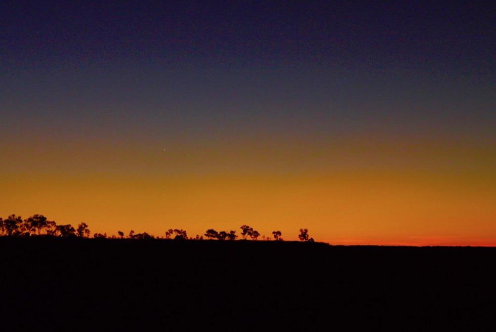 Ngumban Cliffs Rest Area - Letztes Leuchten nach dem Sonnenuntergang - Kimberley - Western Australia