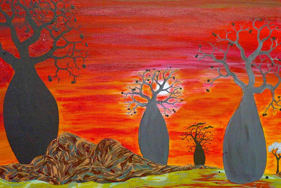Norval Gallery in Derby - Bild: Boab Trees - Kimberley - Western Australia