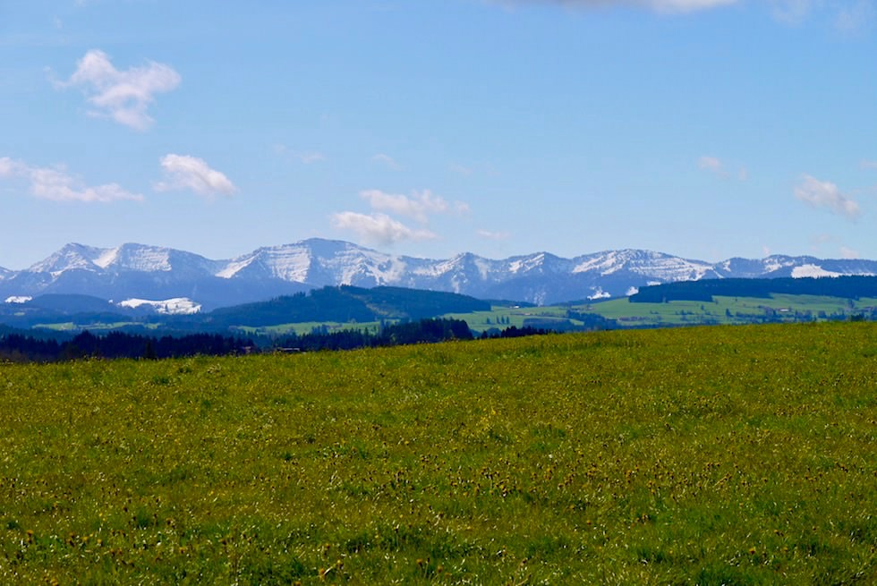 Radrunde Allgäu - Ausblick grüne Wiesen & Nagelfluhkette - Baden-Württemberg