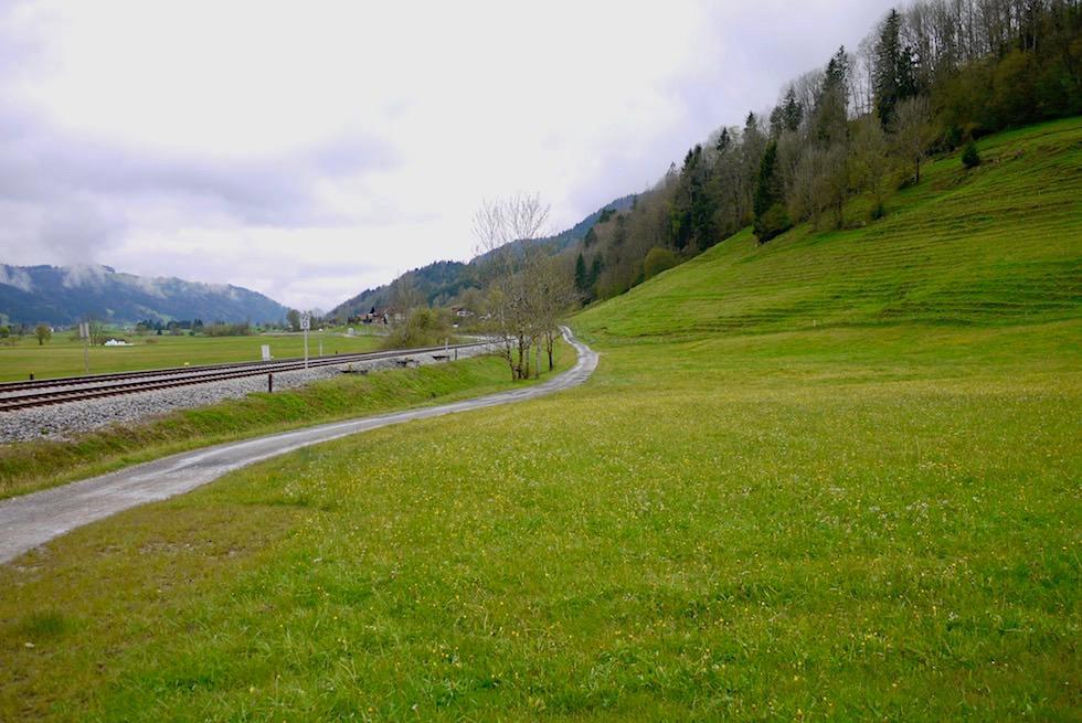 Radrunde Allgäu - Entlang an Bahnschienen & der alten Salzstraße nach Immenstadt - Bayern