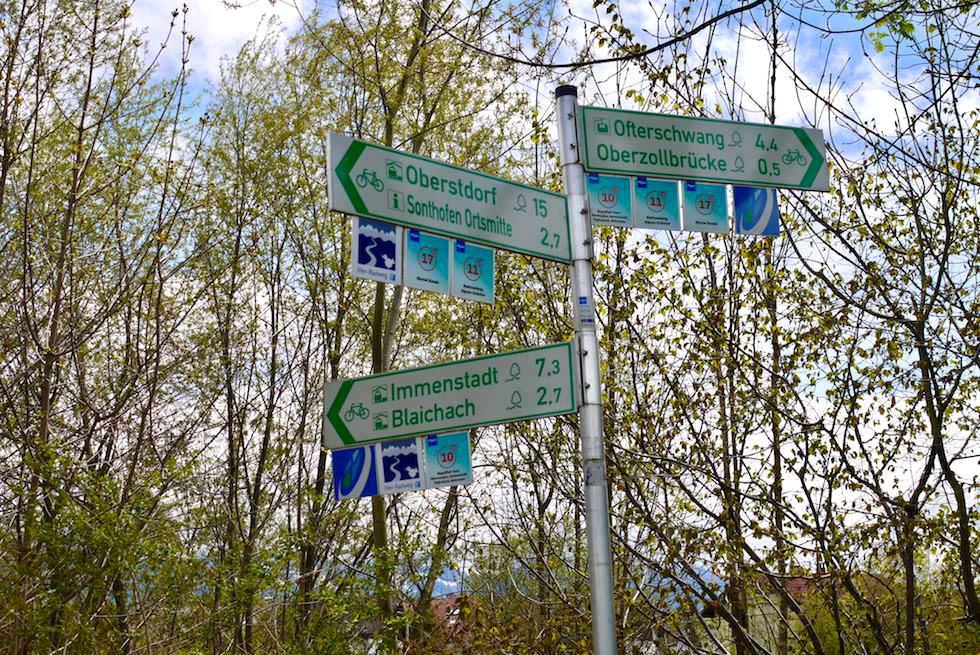 Radrunde Allgäu - einheitliche, durchgängige Beschilderung - Bayern