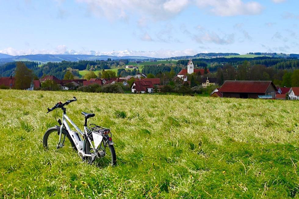 Radrunde Allgäu - Grüne Wiesen, Dorf Eglofs & Alpenblick - Baden-Württemberg