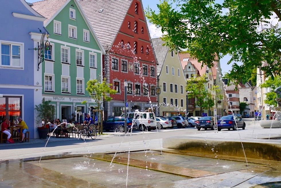 Bunte, freundliche Altstadt von Memmingen - Allgäu - Bayern