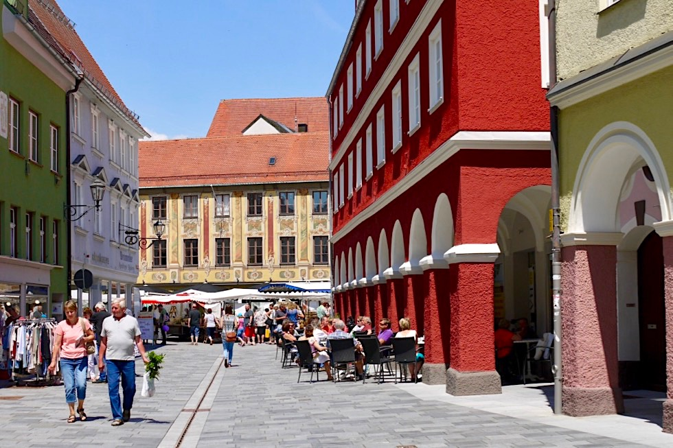 Ausblick auf das mittelalterliche Steuerhaus in Memmingen - Allgäu - Bayern