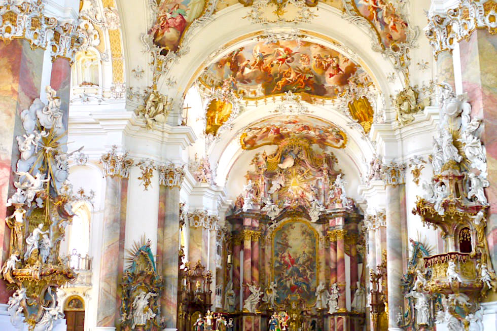 kloster ottobeuren basilika meisterwerk des europ ischen barock passenger on earth. Black Bedroom Furniture Sets. Home Design Ideas