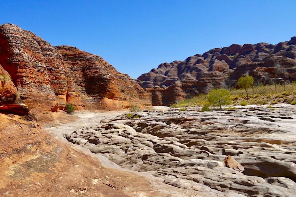 Bungle Bungles - Faszinierend schöner The Window Walk: ausgefurchter Piccaninny Creek & bunte Felsdome - Kimberley, Western Australia