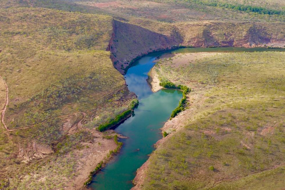 Der schöne Chamberlain River auf der Questro Station - Kimberley Outback - Western Australia