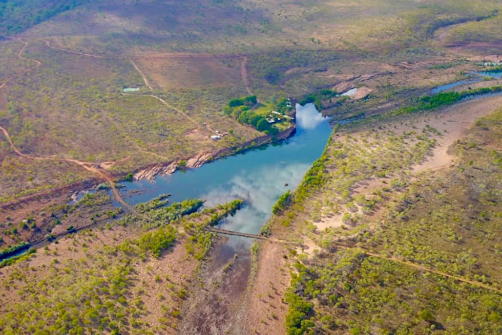 El Questro Homestead aus der Vogelperspektive - Kimberley - Western Australia