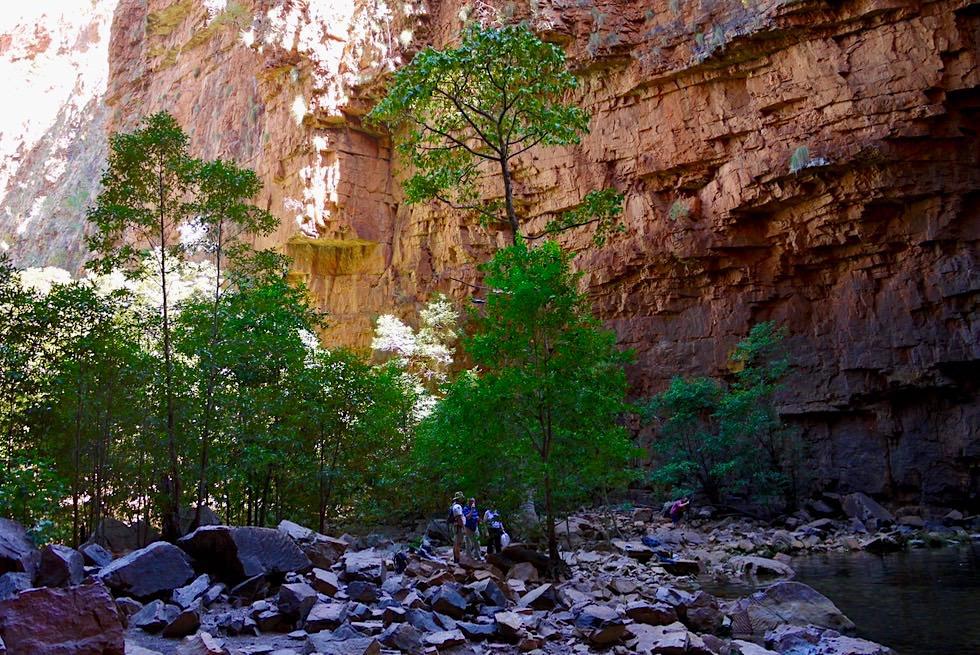 Emma Gorge Pool - Steiniges Ufer - El Questro - Kimberley - Western Australia