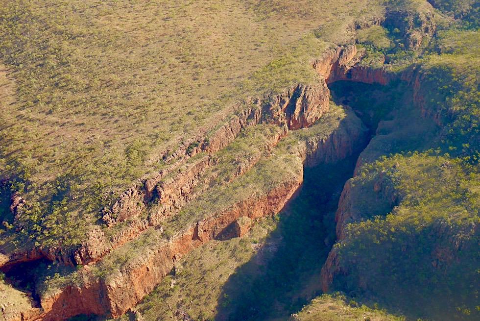 Emma Gorge - Schlucht von oben gesehen auf Wandjina Explorer - Kimberley - Western Australia