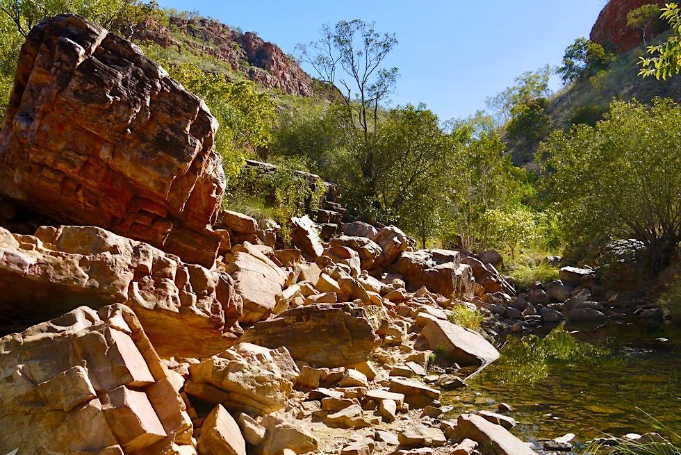 Emma Gorge Trail - Steiniger Pad durch die Schlucht - El Questro - Kimberley - Western Australia