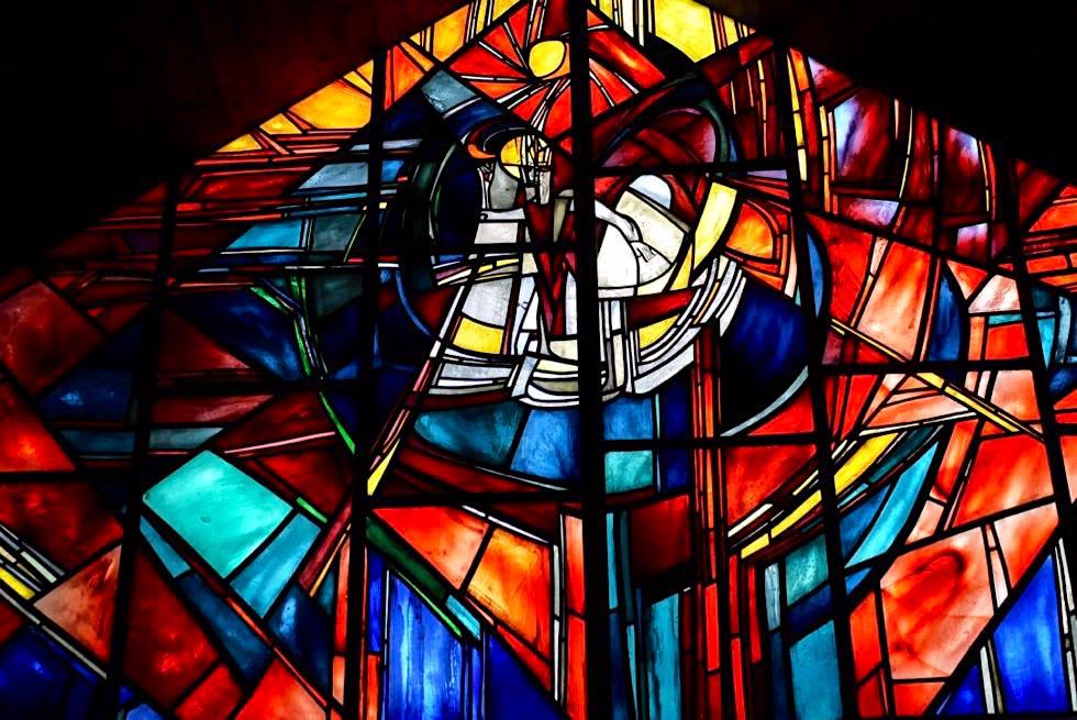 Erich Schickling - Glasfenster in seiner Kapelle - Allgäu - Bayern