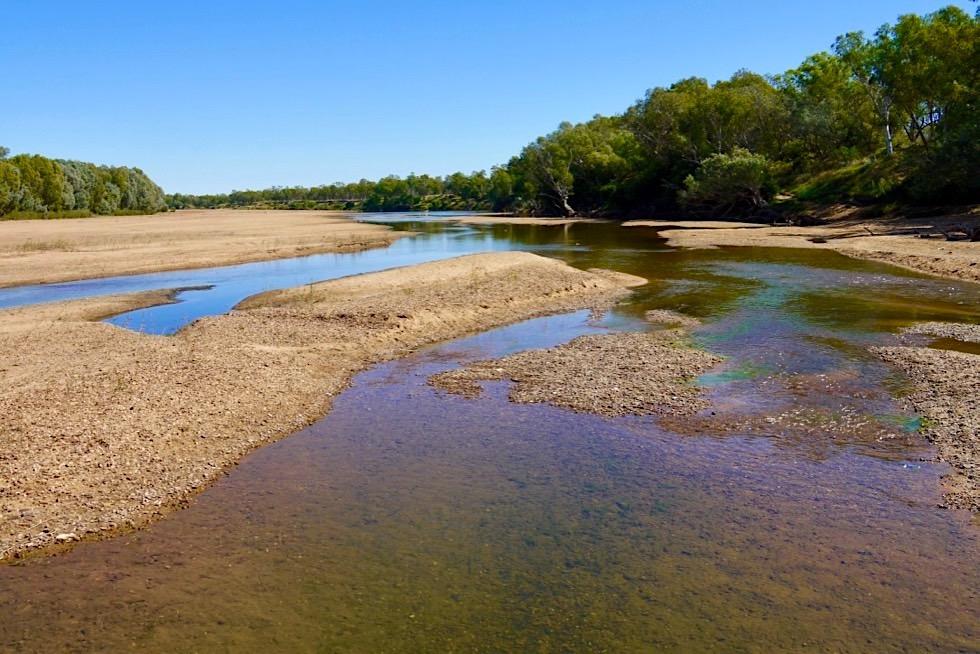 Fitzroy River beim Fitzroy River Crossing während der Trockenzeit - Kimberley, Western Australia