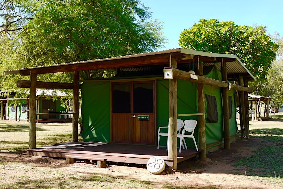 Fitzroy River Lodge - gemütliche Safari Zelte - Kimberley, Western Australia