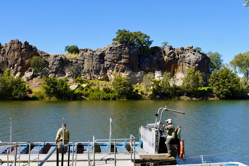 Geikie Gorge - Bootsanlegestelle für Bootstour - Fitzroy Crossing - Kimberley, Western Australia