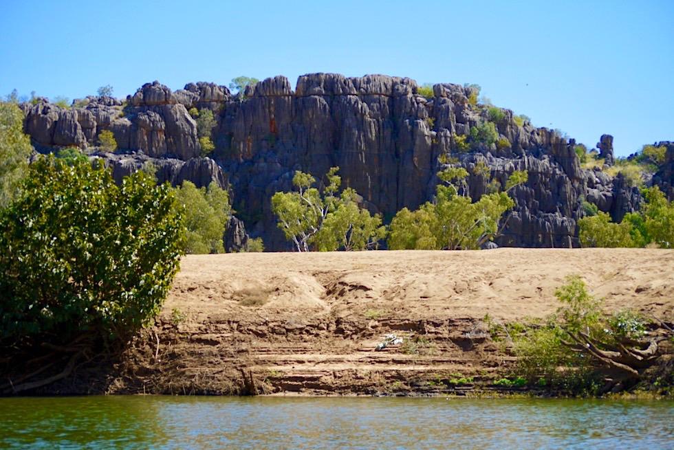 Geikie Gorge Bootstour - Ausblick auf das Ende der Riff-Wanderung - Fitzroy River - Kimberley, Western Australia