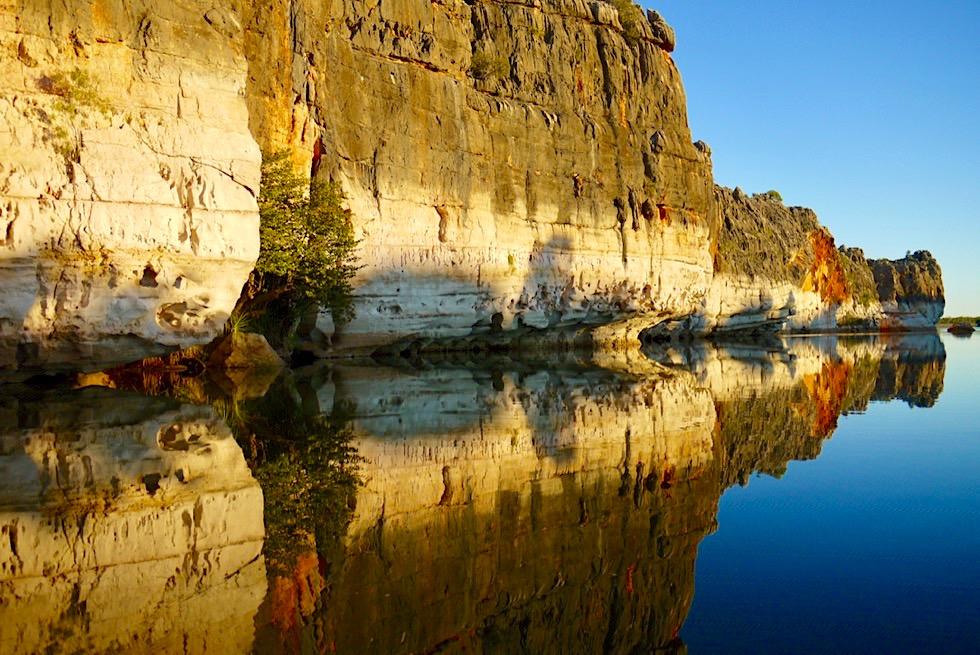 Geikie Gorge - Atemberaubende Farben & Spiegelungen bei Sonnenuntergang - Fitzroy River - Kimberley - Western Australia