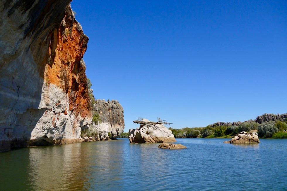 Geikie Gorge - Leuchtende Felsen am späten Morgen - Fitzroy River - Kimberley - Western Australia