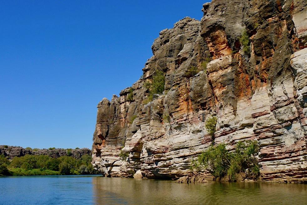 Geikie Gorge National Park - Pittoreske bunte Schluchten-Steilwände - Fitzroy River - Kimberley - Western Australia