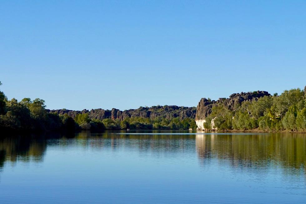 Geikie Gorge National Park - Schwimmen im Fitzroy River - Kimberley, Western Australia