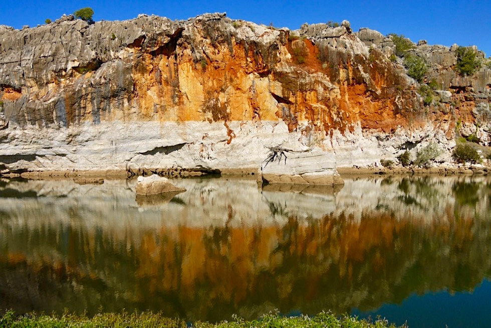 Geikie Gorge - Feuriges Farbenspiel & beeindruckende Stimmung am Nachmittag - Fitzroy River - Kimberley - Western Australia