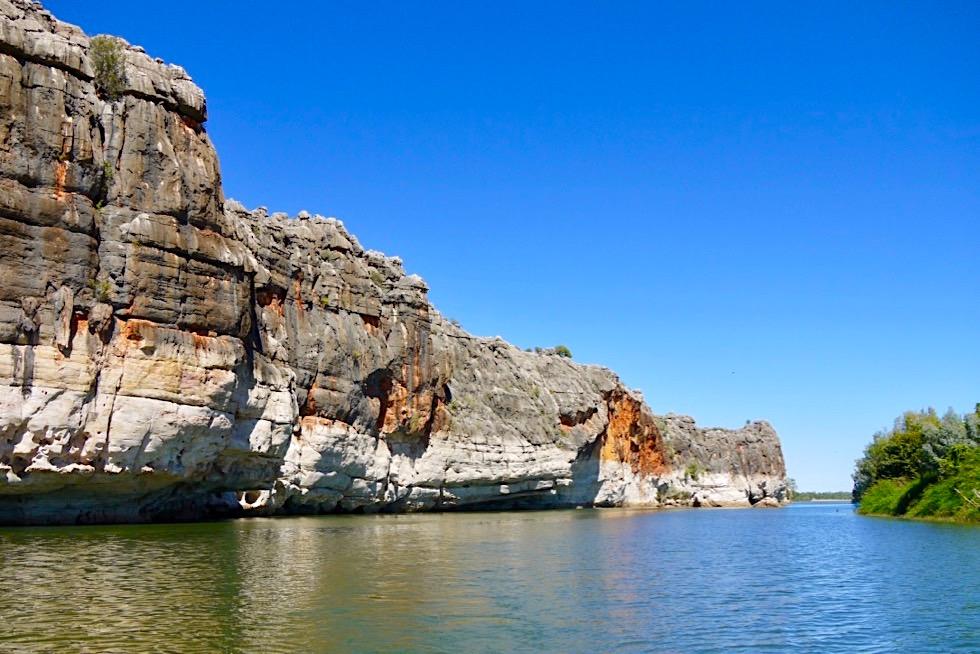 Geikie Gorge - Wie entstanden die Farben der Felsklippen - Kimberley - Western Australia
