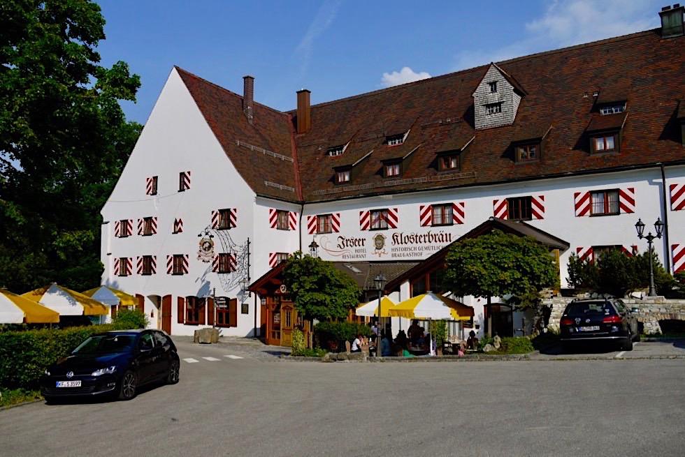 Irseer Klosterbräu - Schöne Rast auf der Wandertrilogie Wiesengänger Route - Allgäu - Bayern