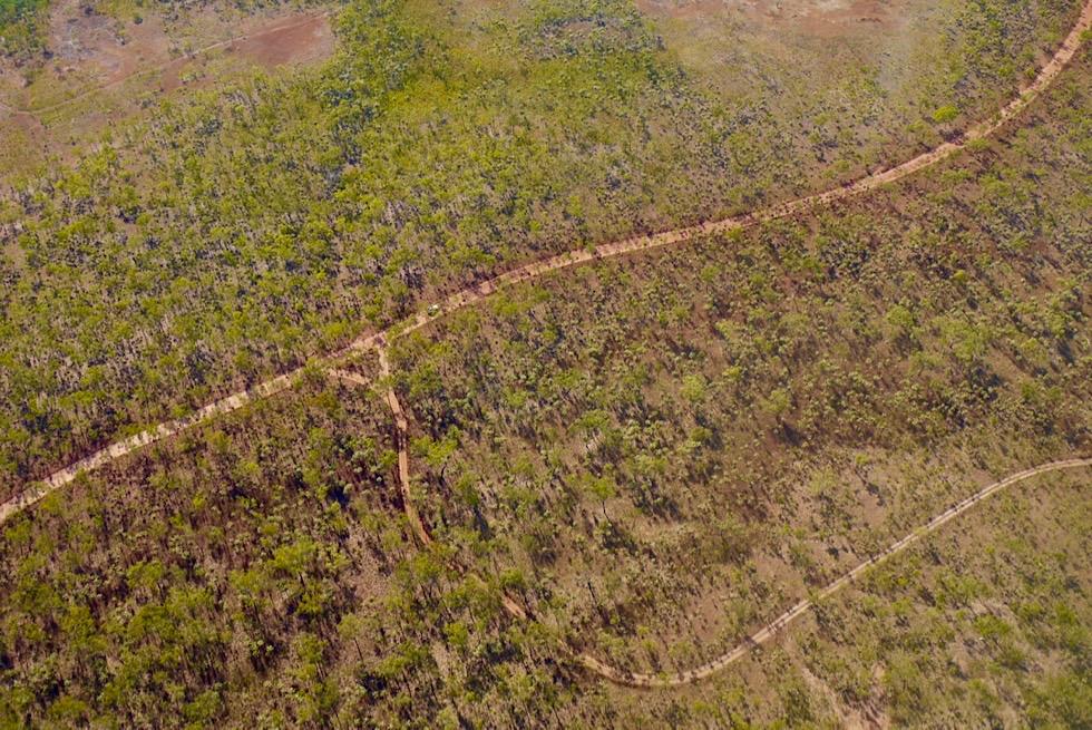 Kimberley Kingfisher Scenic Flight - Outback Piste zu den Mitchell Falls - Western Australia