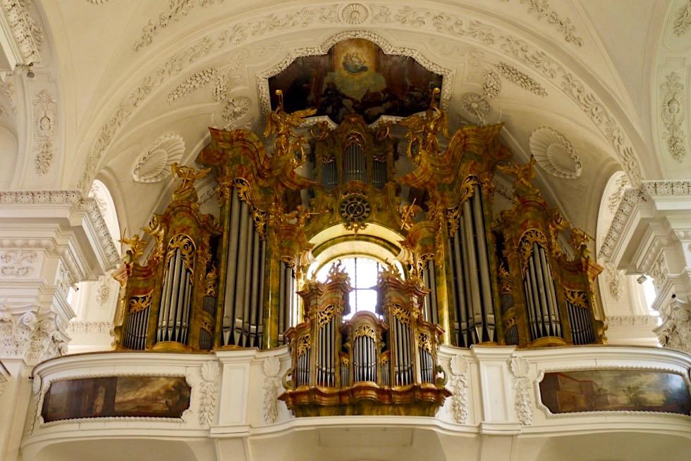 Kloster Irsee - Historische Orgel mit ältesten Orgelpfeifen - Allgäu - Bayern