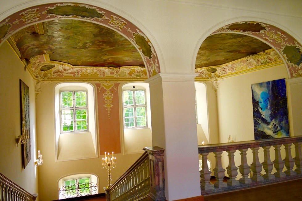Kloster Irsee - Klosterinneres: schmucke Decken, schöne Bögen - Allgäu - Bayern