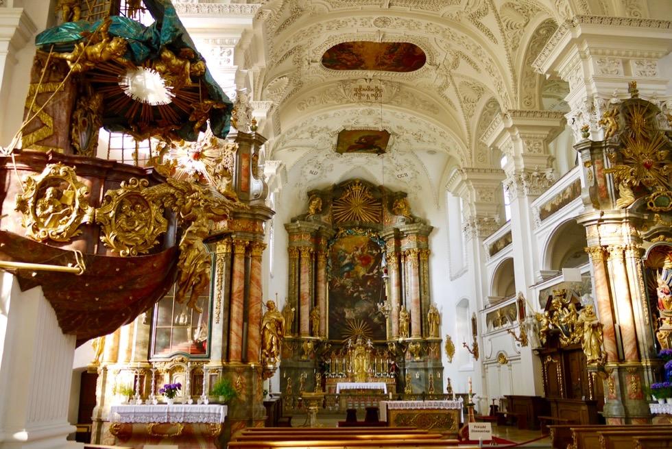 Kloster Irsee - Besonderheit: Schiffsbug als Kanzel - Allgäu - Bayern