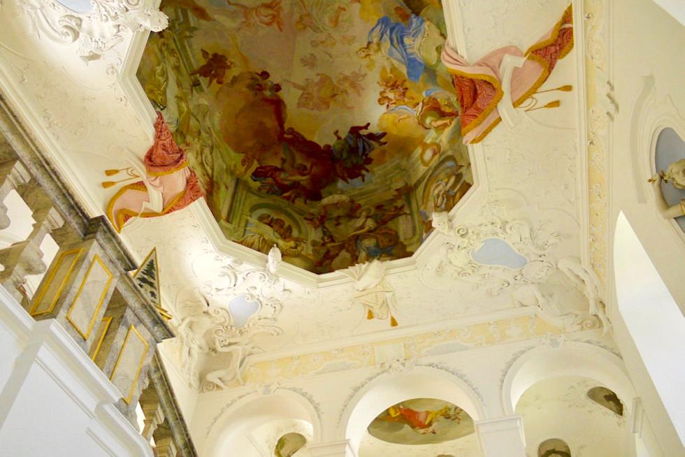 Kloster Museum Ottobeuren - Außergewöhnliche Deckenfresken - Allgäu - Bayern