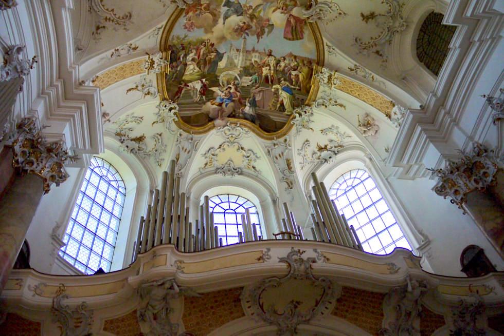 Klosterkirche Ottobeuren - Empore & Orgel - Allgäu - Bayern