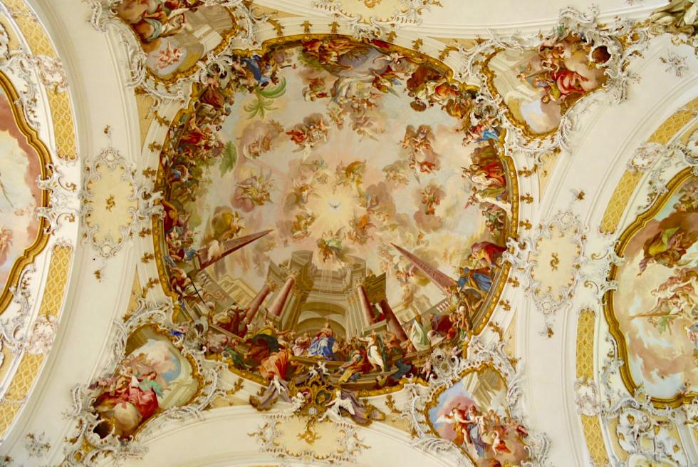 """Kloster Ottobeuren - Deckenfresko """"ecclesia triumphans"""" - Allgäu - Bayern"""