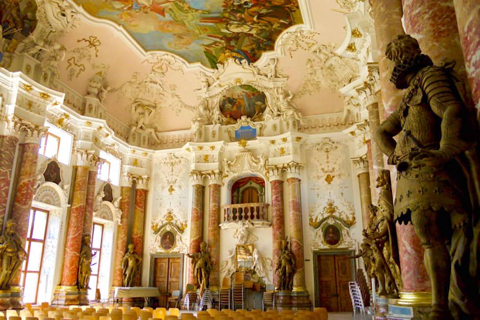 Kloster Ottobeuren - Prunkvoller Kaisersaal im Kloster Museum - Allgäu - Bayern