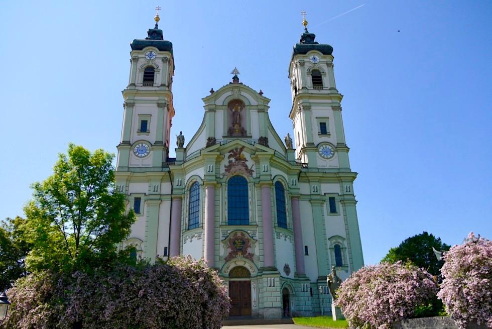 Prunkvolle Klosterkirche Ottobeuren von außen - Allgäu - Bayern