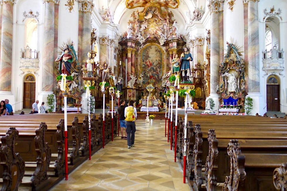Klosterkirche Ottobeuren - eine der schönsten Barockkirchen Europas - Allgäu - Bayern