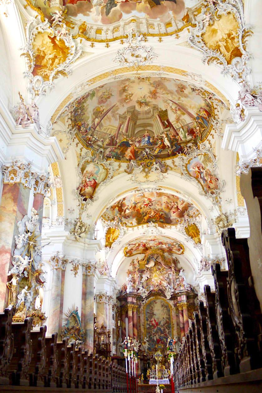 Klosterkirche Ottobeuren - Erster überwältigender Eindruck beim Betreten der Basilika- Allgäu - Bayern