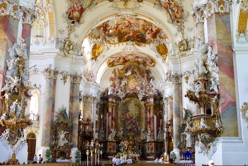 Klosterkirche Ottobeuren: Prunkvolle Basilika & eine der schönsten Klosterkirchen - Allgäu - Bayern