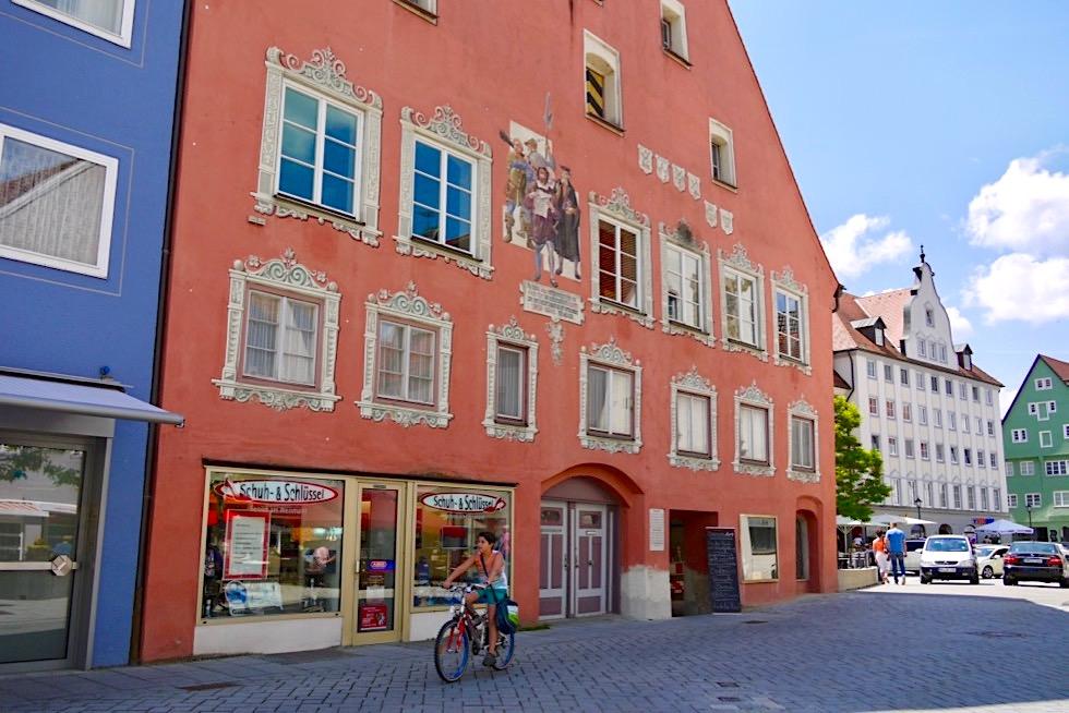 Haus der ehemaligen Kramer Zunft & Haus der 12 Artikel von Memmingen - erste Menschenrechts-Erklärung Europas - Allgäu - Bayern