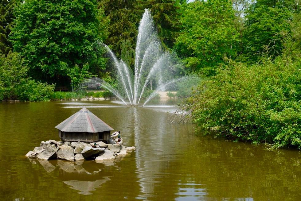 Wasserfontäne & Teich im Kurpark Bad Wörishofen - Allgäu - Bayern