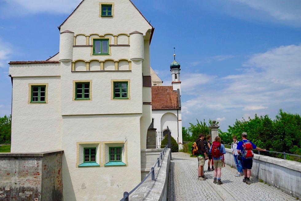Mindelburg - Besichtigung auf der Wiesengänger Etappe 02 - Wandertrilogie Allgäu - Bayern