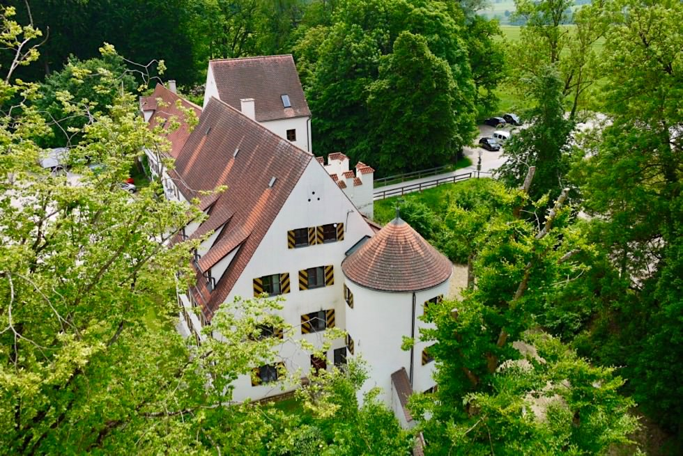 Mindelburg - Eingang & Vorburg vom Aussichtsturm gesehen - Allgäu - Bayern