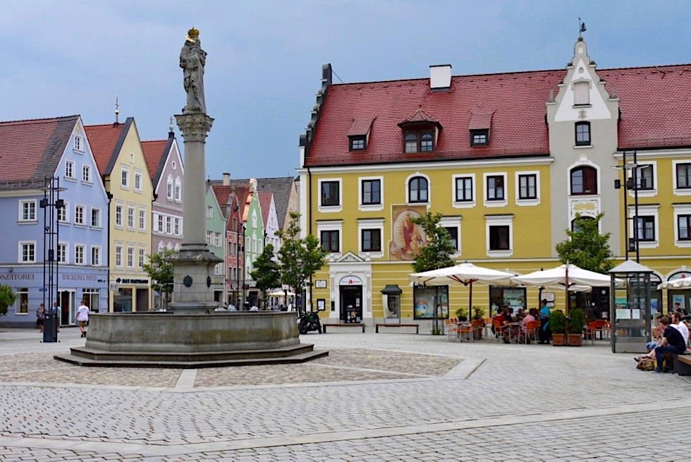 Mindelheim mit seiner schönen historischen Altstadt - Allgäu - Bayern