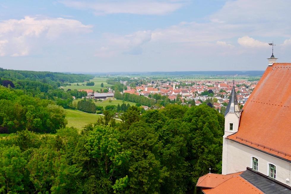 Mindelheim gesehen vom Aussichtsturm der Mindelburg - Allgäu - Bayern