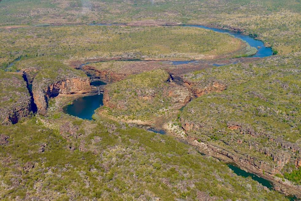 Mitchell Falls - Vogelperspektive aus der Entfernung - Outback Kimberley - Western Australia